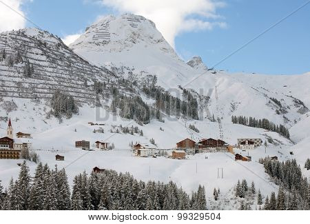 The Picturesque Alpine Village Of Warth-schr?cken, In Austria