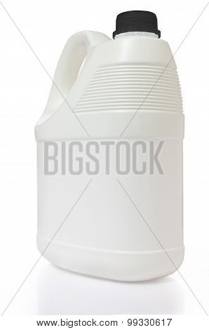 White Canister And Black Color Cap Polyethylene Include Path