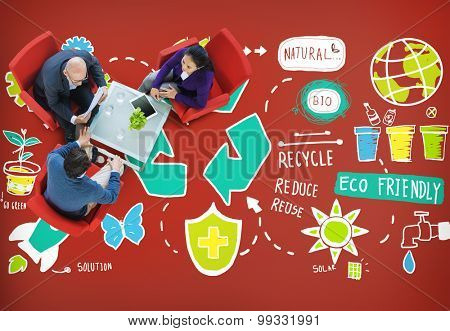 Recycle Reduce Reuse Eco Friendly Natural Saving Go Green Concept