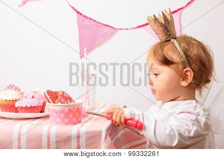 little princess at pink party