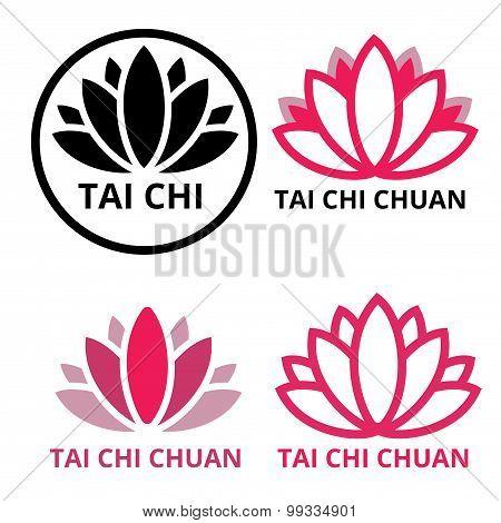 logo tai chi lotus