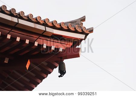 Roof Of Senjoji Temple In Tokyo , Japan Isolated