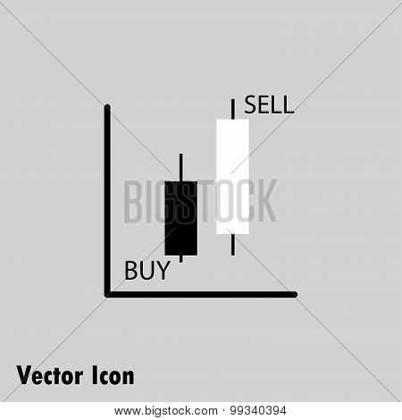 Vector Icon Japanese Candles