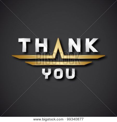 EPS10 vector thank you text icon