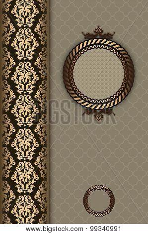 Vintage Decorative Background With Frame.