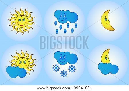 Funny weather for young children and their parents