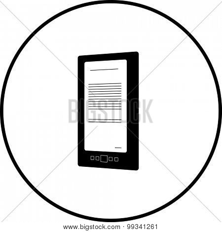 electronic e-book reader symbol