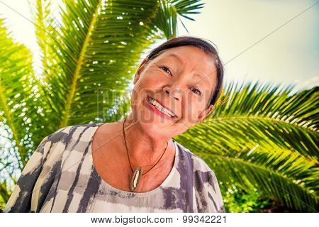 retired female smiling on