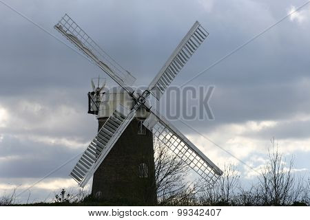 Windmill from front showing four sails