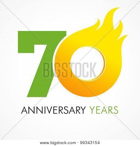 70 anniversary flame logo