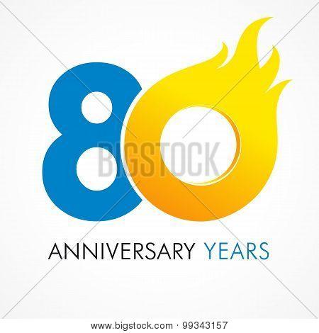 80 anniversary flame logo
