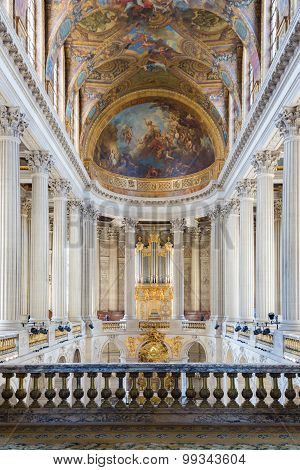 Royal Chapel Of Palace Versailles Near Paris, France
