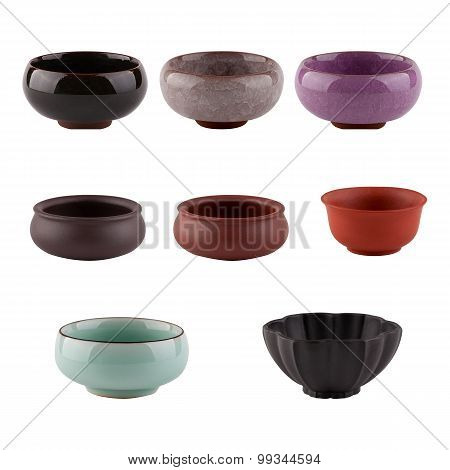 Set Of Cups Of Chinese Tea Ceremony