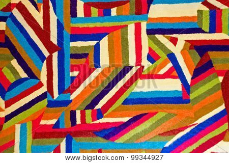 Color And Geometric Pattern In Quilt