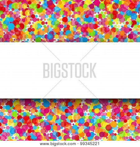 Colorful Round Celebration Background. Vector
