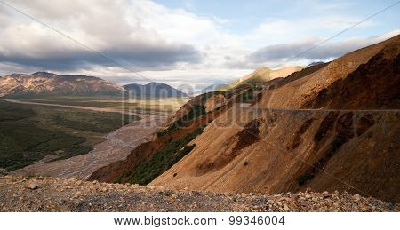 Peaks Sky Valley's Park Road Denali National Park