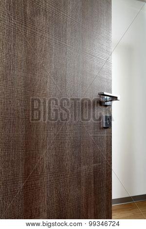 Colored Wooden Door Open M