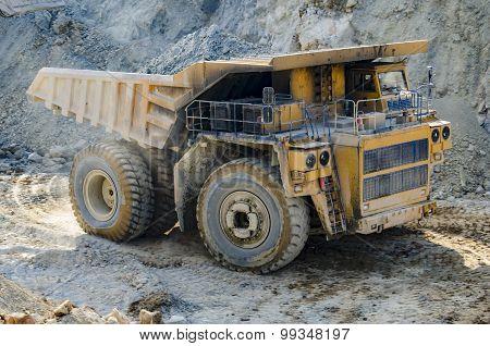 Truck In Open Pit Mine