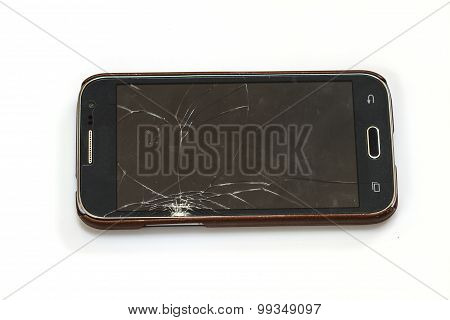 Smartphone With Broken Screen