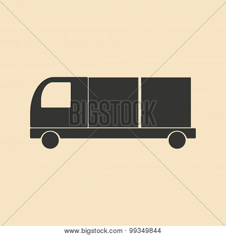 Flat in black and white mobile application road transport