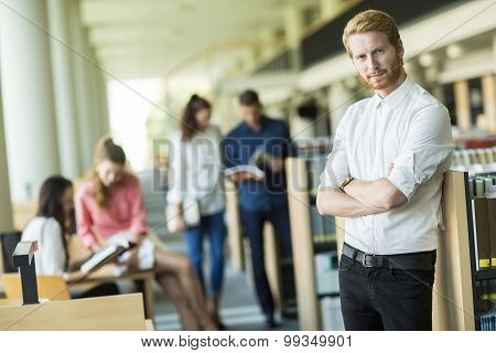 Young Man In The Library