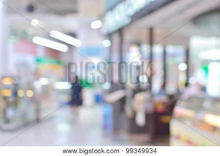 Abstract Blur Or Defocus Background Of Shopping Plaza