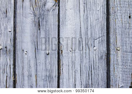 Old Planks With Peeling Paint