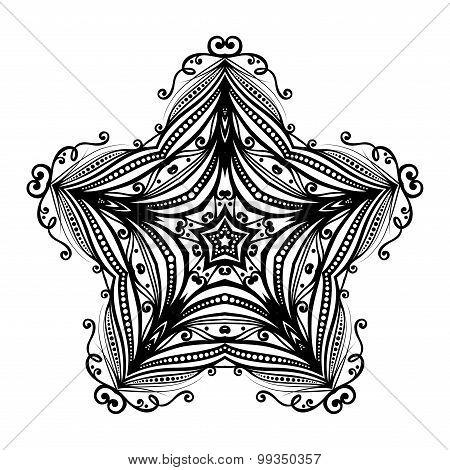 Vector Beautiful Deco Black Star