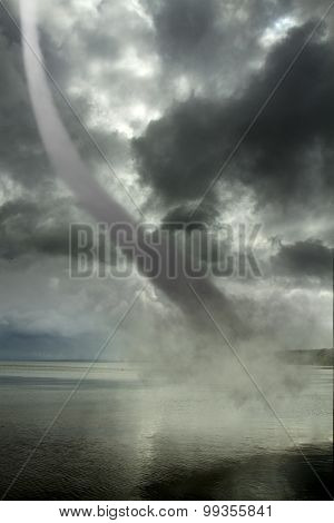 Tornado Over The Ocean