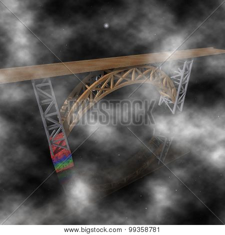 He Mysterious Bridge In The Clouds