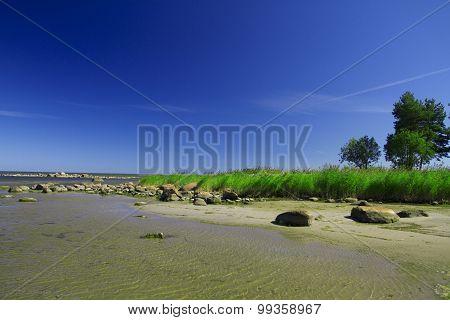 Baltic Sea In Summer . Beautiful Scenery