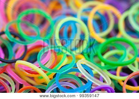 Rainbow Colored  Loom Rings