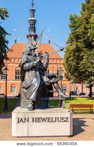 Gdansk. Monument to Jan Hevelius.