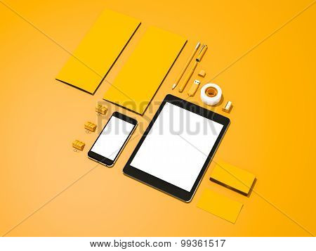Yellow Corporate Identity Mockup
