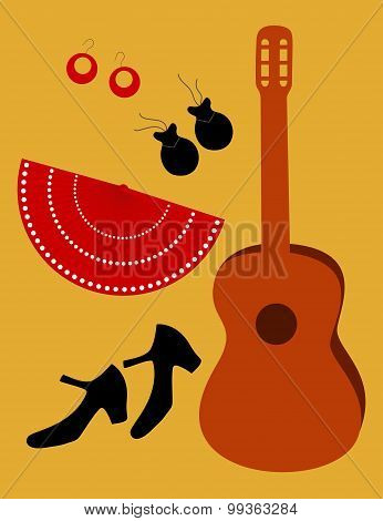 Flamenco accessories, vector
