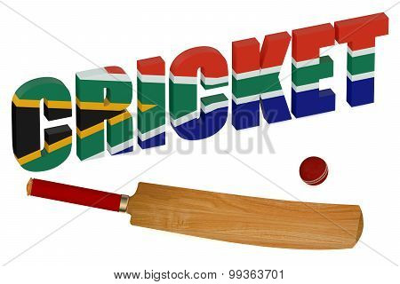 South Africa Cricket Concept