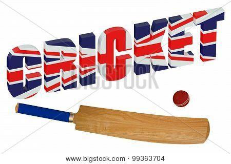 United Kingdom Cricket Concept