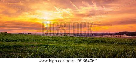 Amazing Sunset In Tuscany