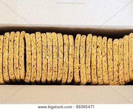 Crispbreads in the box