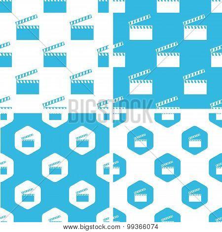 Clapperboard patterns set