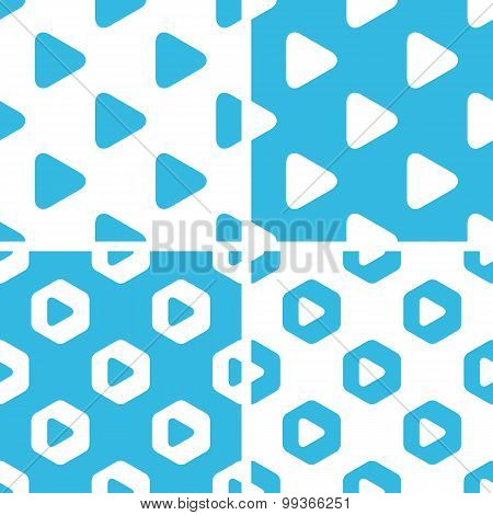 Play button patterns set