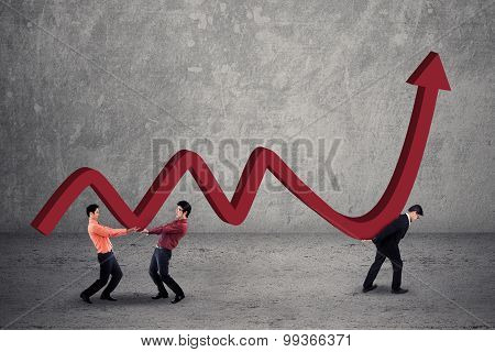 Businessmen With Financial Chart