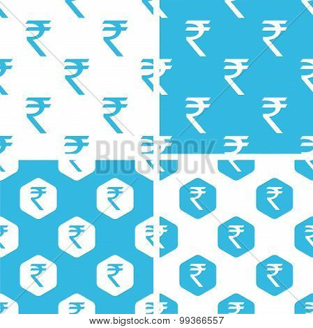 Indian rupee patterns set