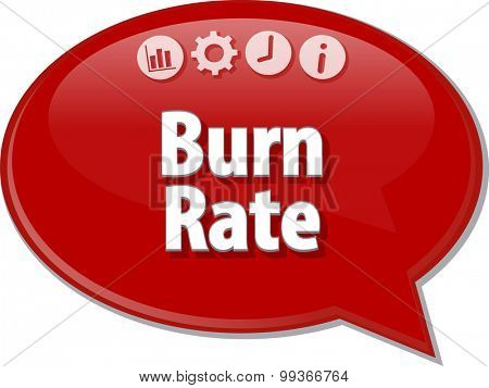 Blank business strategy concept infographic diagram illustration Burn Rate