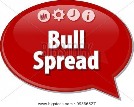 Blank business strategy concept infographic diagram illustration Bull Spread