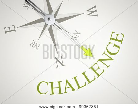 An image of a nice compass with the word challenge