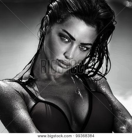 Portrait Of Sexy Lady.