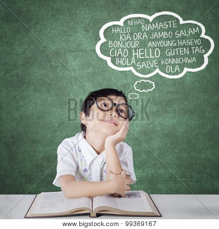 Primary School Student Learns Foreign Languages