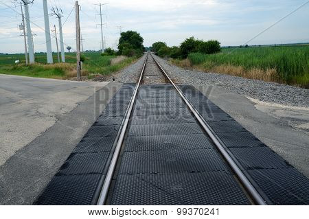 Rural Railroad Tracks