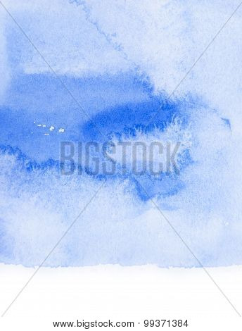Light water blue watercolor banner for web design.